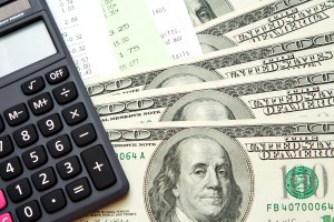 Budgeting with Money, Bills, & Calculator