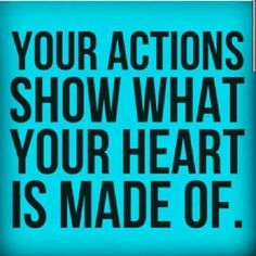 What do your actions say about you? Is your appreciation heartfelt?