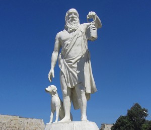 Diogenes seeks an honest person. Will he find you, auto repair shop owner?