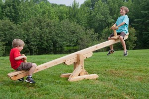 If you're playing on a teeter totter,  never let down the other kid! If you're leading an auto repair shop, never let down your staff!